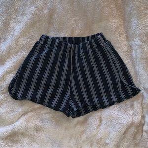 BM striped fabric shorts
